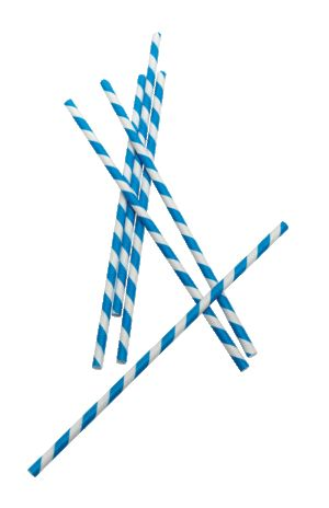 Use striped straws.