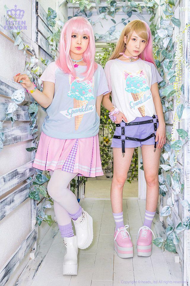 listen-f | Rakuten Global Market: KERA system Zipper system blue letter system individuality group fashion of Harajuku that ice cat short sleeves raglan sleeves cut-and-sew ◆ ListenFlavor (リッスンフレーバー) Gurley pop punk rock Gothic Lolita has a cute origin