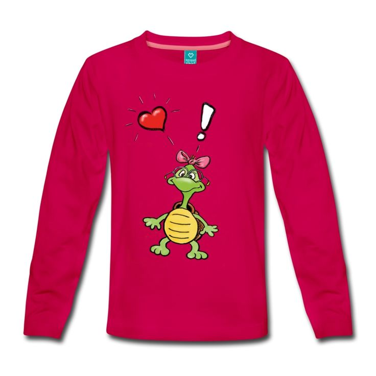 Kinder-Langarmshirt mit Schildkröte