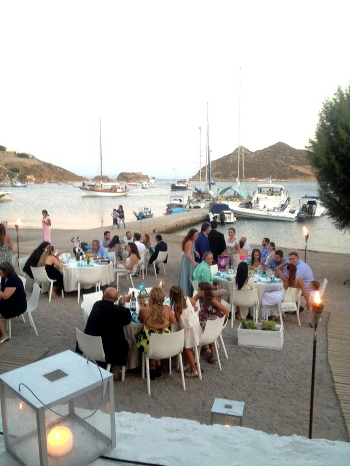 Reception by the sea..