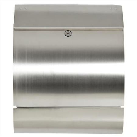 Mailbox Stainless Steel Locking Mail Box Letterbox Postal Box Modern Design New - Walmart.com