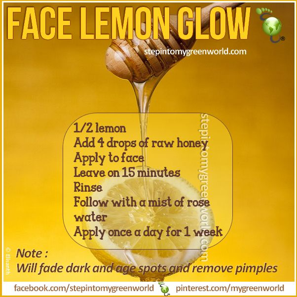 ☛ Get rid of zits, exfoliate and brighten your skin with this mask. It works! THIS IS GOOD FOR MEN AND WOMEN FOR THE FACE LEMON GLOW MASK RECIPE: http://www.stepintomygreenworld.com/healthyliving/beautytips/face-lemon-glow-mask/ ✒ Share | Like | Re-pin | Comment