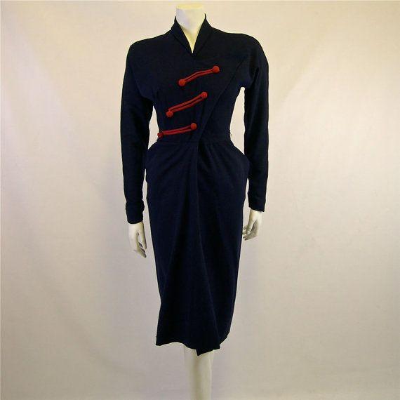 1940s Vintage Dorothy O'Hara Formal Dress by Palettelondon on Etsy