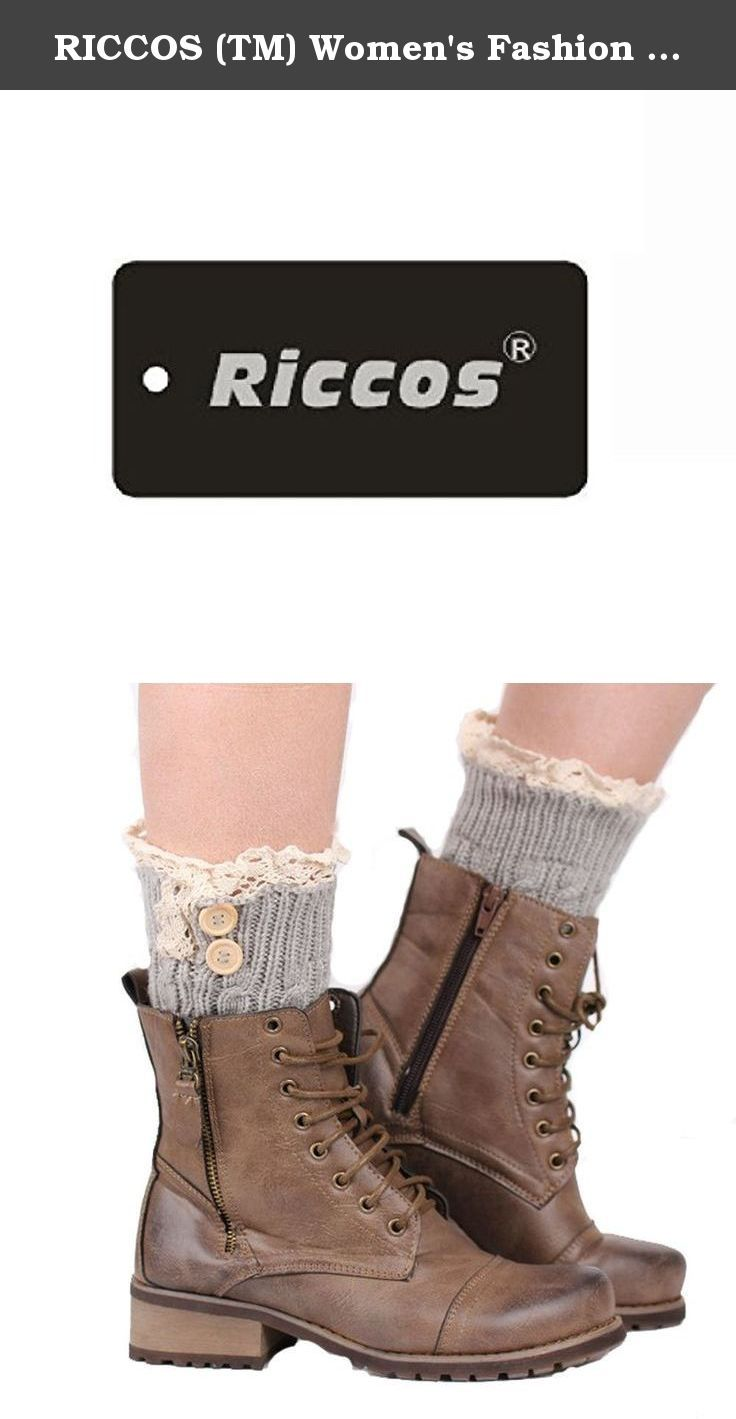 RICCOS (TM) Women's Fashion Winter Warm Knitted Short Buttons Boot Cuffs Leg Warmer Socks with Lace trim (Beige). It is very warm and the design is keep up with the fashion. RICCOS knitted and Multi Colors leggings for a fun and fashionable effect.