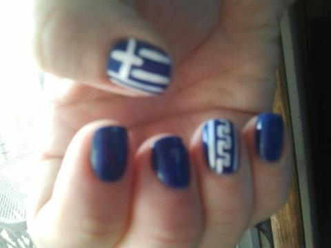 I had these done for the Greek Parade (Chicago)  Still on after a week!