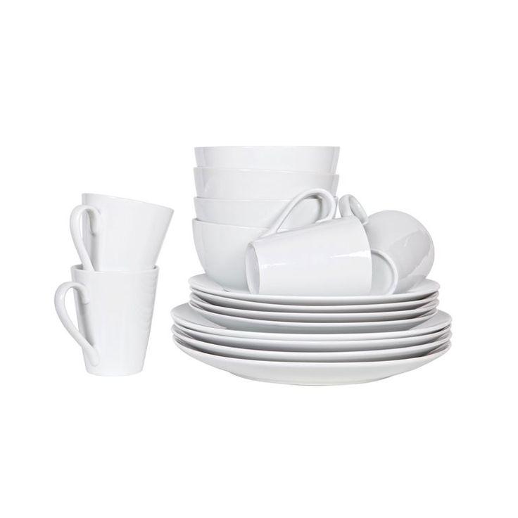 Een mooie serviesset is een goede basis voor een lekker diner of luxe ontbijt. Deze Myrthe set van Woood is neutraal van kleur en ontwerp, wat het des te eleganter maakt. De 16-delige set bestaat uit mokken, ontbijtbordjes, dinerborden en kommen.