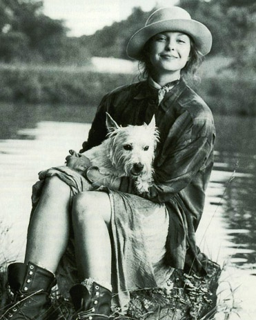 Ashley Judd and I love the same things,  Westies, boots , hats and sitting near a river