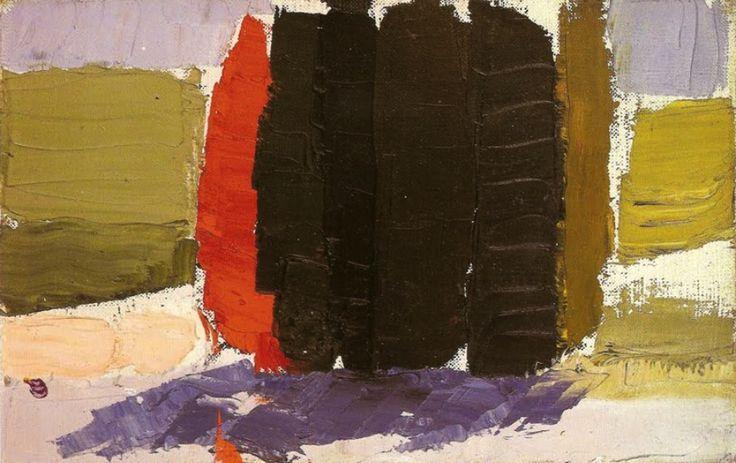 BO FRANSSON: Cypresses, 1953 Nicolas de Staël