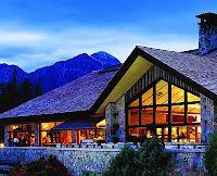 Emerald Lounge Outdoor Patio of The Fairmont Jasper Park Lodge