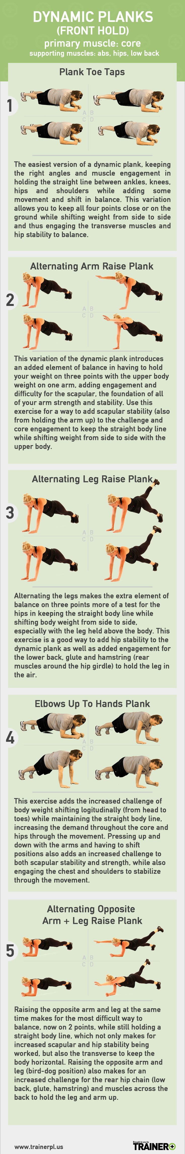 Use this chart to determine which dynamic stable plank ...