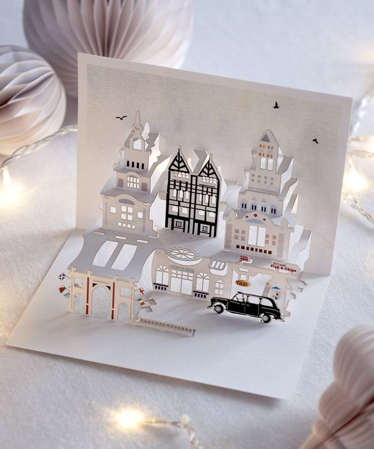 These beautifully detailled pop-up cards which are cut from a single piece of card using no glue are so lovely they are far more than just a card - a