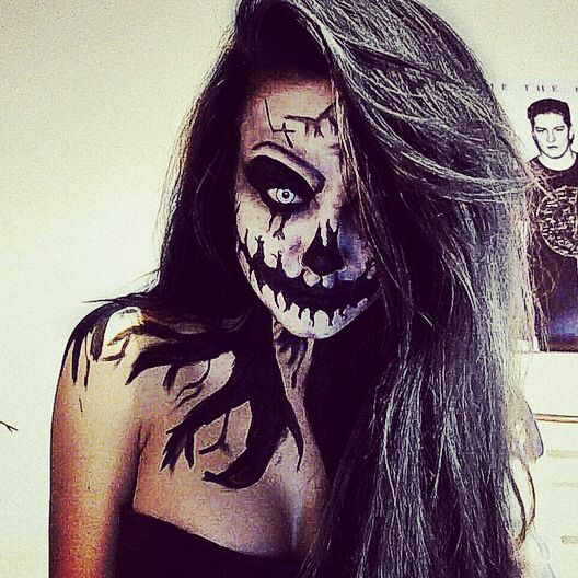 halloween scary creepy makeup sfx make up and face paint ideas - Easy Scary Halloween Face Painting Ideas