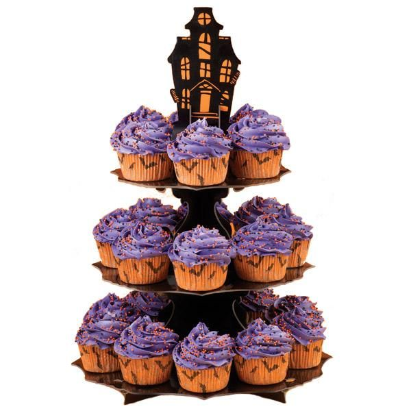 Haunted Manor Creepy Cupcakes - Display all your favorite, fun and - wilton halloween cupcake decorations
