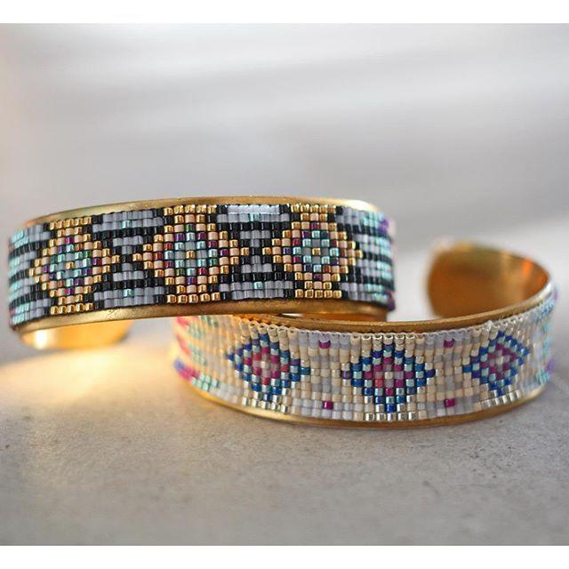DIY | Do it yourself | By Isnata: DIY - Tutoriel : Bracelet en perles tissé Navajo et Azteque fabriqué avec un métier à tisser