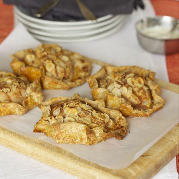 Pear Hazelnut Tarts with lemon goat cheese cream | beyond the peel