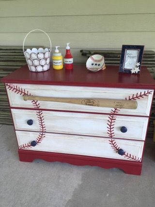 Baseball dresser ideas…