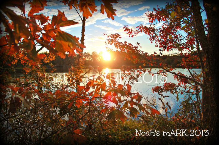 Fall Sunset at Tuckahoe State Park in Caroline County, MD