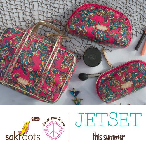 Jet-set this summer with new Hot Pink travel collection in the Treehouse print. Features soft, durable coated canvas and tons of function.