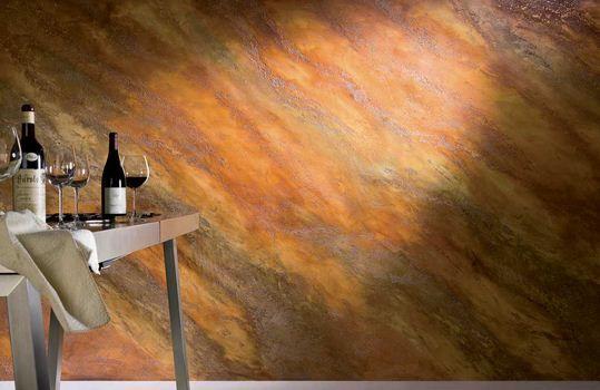 Decoratieve verftechnieken. Giorgio Graesan Istinto. Deze verf geeft uw wanden een verrassende uitstraling. Bos Schilderwerken kan deze techniek voor u uitvoeren. www.bosboxmeer.nl