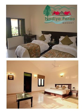 Enjoy the amazing views of birds sighting and wildlife sightings from a hotel balcony. Nadiya Parao Resort is best resort in Jim Corbett located alongside the river Kosi.
