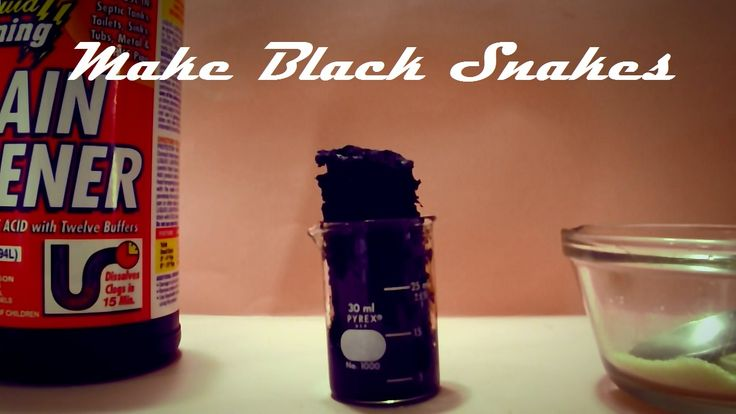 How to Make Black Snake Fireworks With