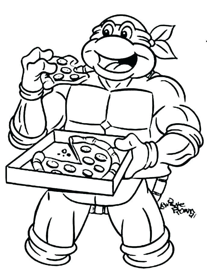 Teenage Mutant Ninja Turtles Coloring Pages Omalovanky Pohadky
