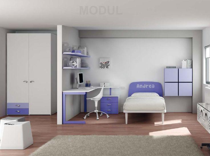 Детская комната для мальчика в синих тонах Moretti Compact EK 32