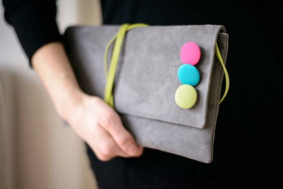 clutch handbag with belt small bag decorated colored by bandabag
