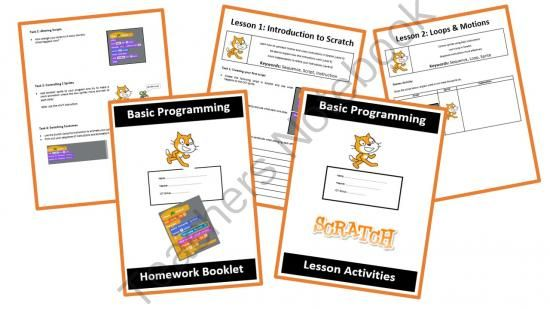 Scratch Programming Coding - The Entire Bundle from Computer & ICT Lesson Plans on TeachersNotebook.com -  (60 pages)  - This is the complete bundle for Scratch including Lesson Booklets, Homework Booklets, Worksheets and PowerPoint Materials. Use this material with your students to teach programming.