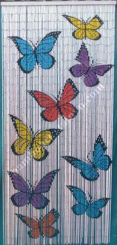 Butterflies bamboo beaded door curtain 100% hand made home decor