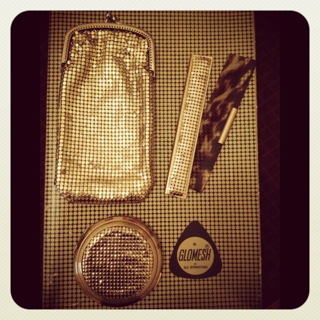 My Glomesh sunglasses case, comb and compact mirror - oh so retro!