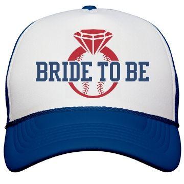 Baseball Bachelorette Bride Hats | Make a baseball bachelorette party trucker hat for the bride to be this spring or summer. HOME RUN!