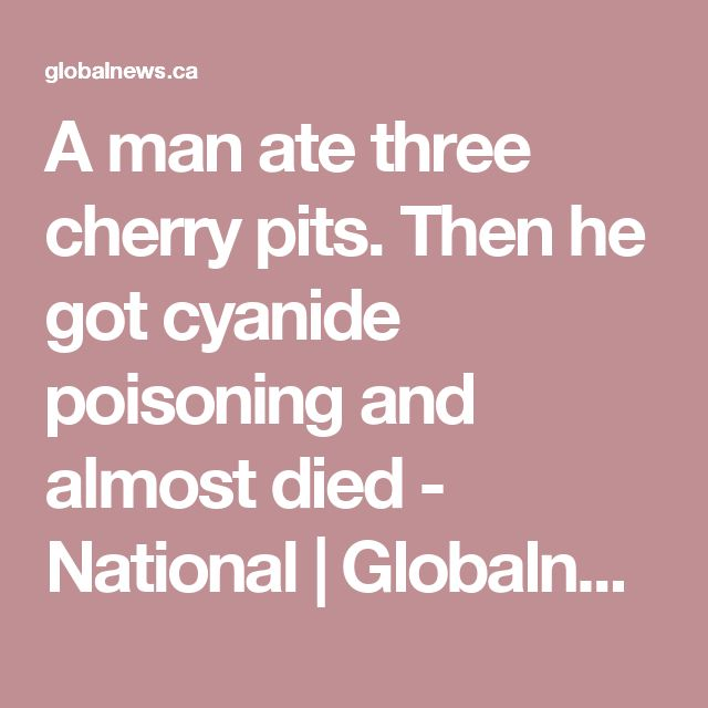 A man ate three cherry pits. Then he got cyanide poisoning and almost died - National   Globalnews.ca