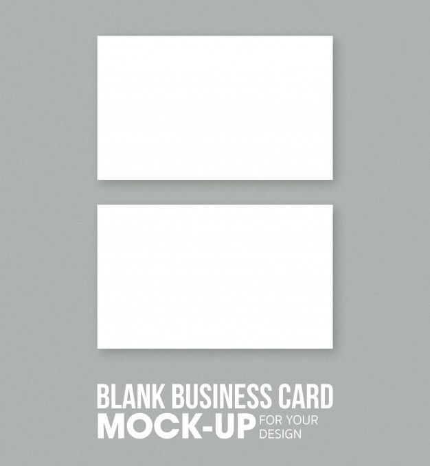 Blank Business Card And Name Card Mockup Template Blank Business Cards Business Card Mock Up Business Card Template Word