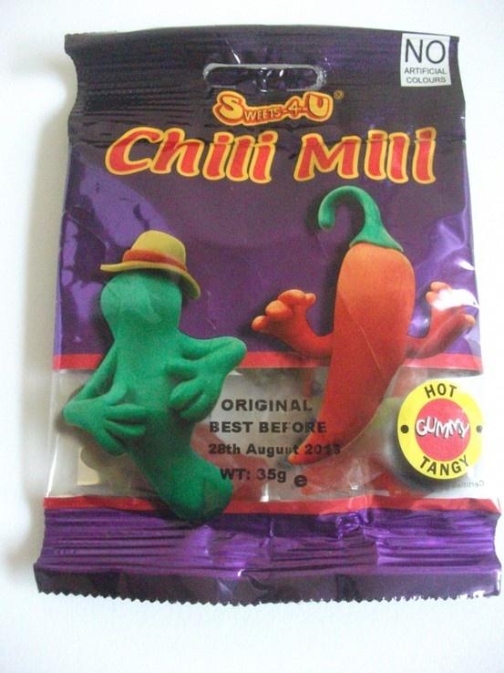 Chilli flavoured jellies!
