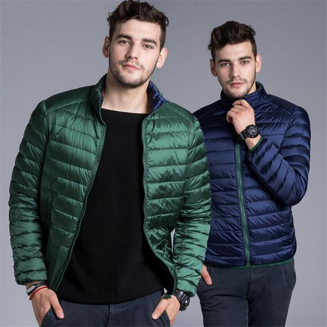 Check it on our site High quality Men Winter Coats Feather Jacket Men Ultralight Down Jackets Warm Parka Homme down jacket to wear double-sided just only $34.19 with free shipping worldwide  #jacketscoatsformen Plese click on picture to see our special price for you