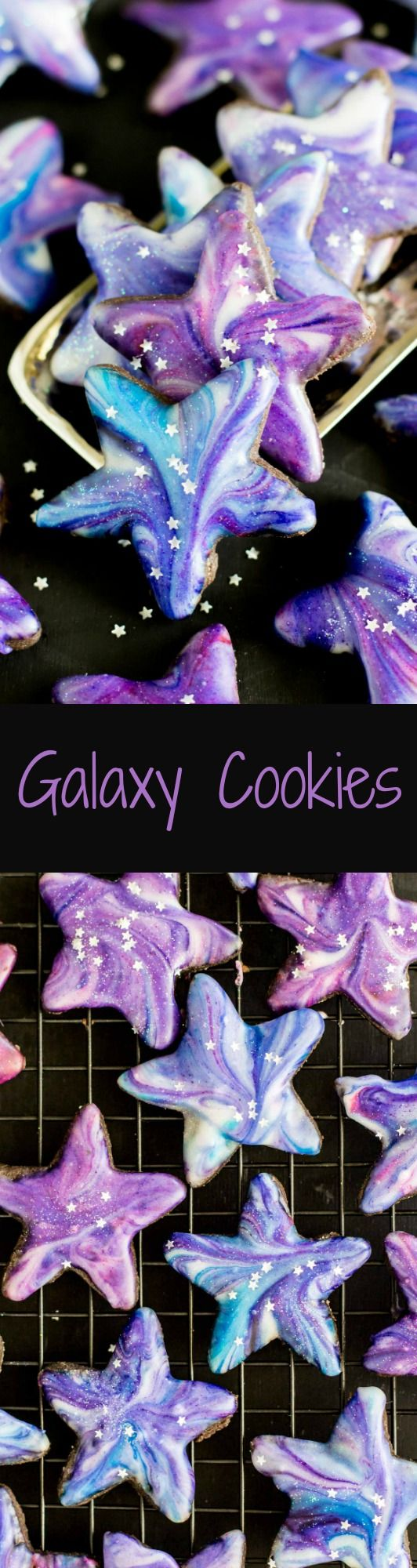 Galaxy Cookies!  These are BEAUTIFUL and not very hard to make!  via SugarSpunRun