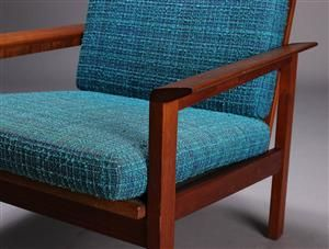 Lot: 3414238Dansk møbelproducent. Lænestol, teaktræ, 1960'erne