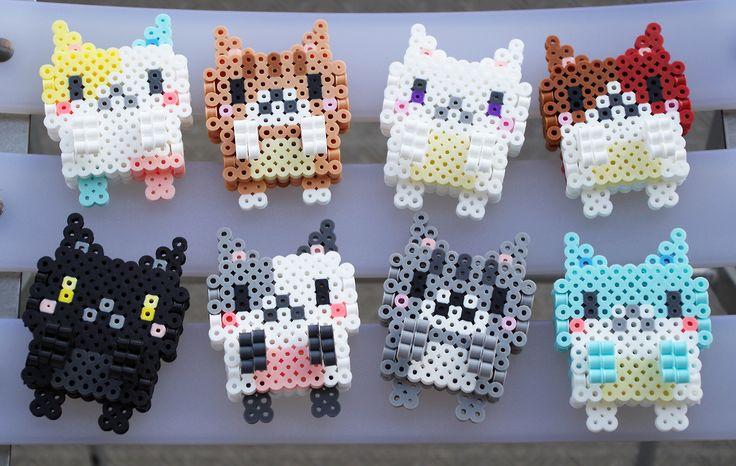 3D Cats by Perler Beads Art Studio - Pattern: http://www.pinterest.com/pin/374291419002155420/