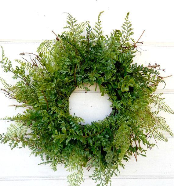 Spring Wreath Summer Wreath Mini Window Wreath Mini Fern Wreath Fern Wreaths Gift For Mom Wall Hanging Small Wreath Housewarming Gift Window Wreath Small Wreaths Wreaths