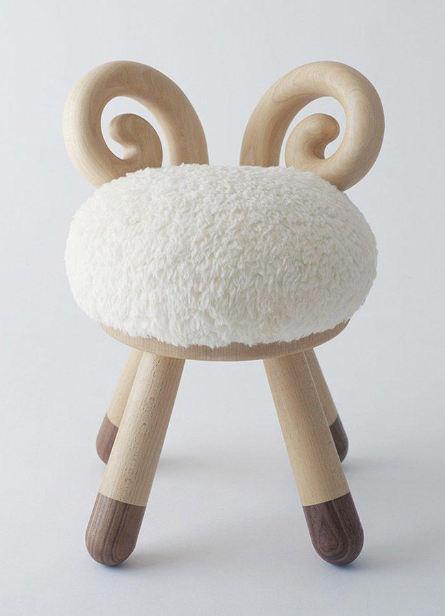 Chaise bélier pour enfant #déco #maison #chambre #bébé Poligöm // Kamina&C - Sheep Chair