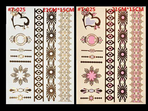 new design waterproof temporary tattoo flash gilt metal necklace big tattoo fluorescent tattoo Tattoo Female India
