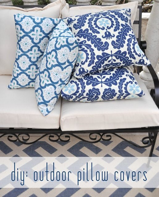 Tutorial: How To Sew Removable Pocket Pillow Covers {Centsational Girl}