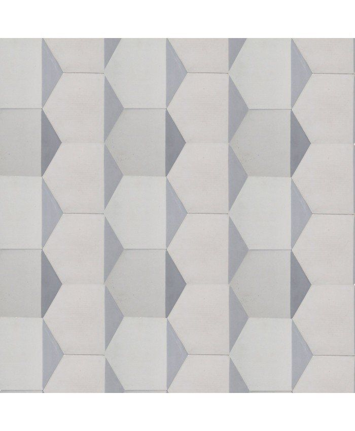 Hexagonal Triangles Cement Tiles
