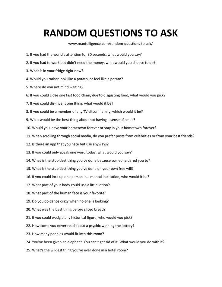 Frauen fragen stellen zum kennenlernen