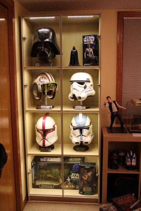 BILLY bookcase Star wars helmet display