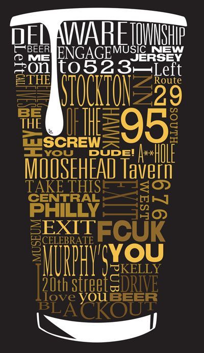 Someone needs to make this for me with words that represent my husband. Cool Beer Typography.