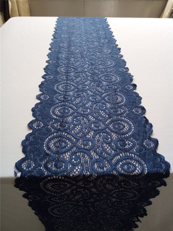 Hey, I found this really awesome Etsy listing at https://www.etsy.com/ca/listing/258129768/navy-blue-table-runner-lace-table-runner