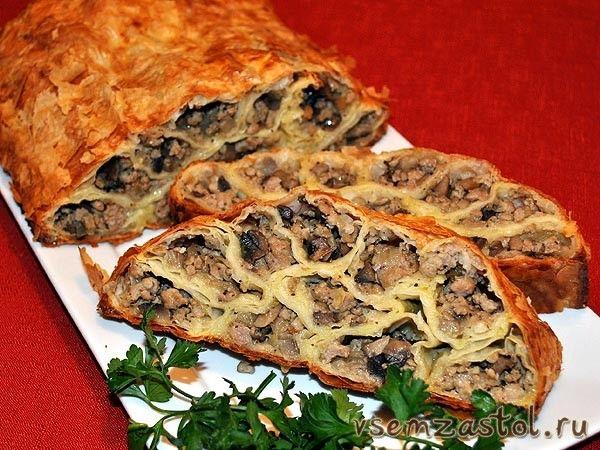 Пирог с мясом «Монастырская изба»