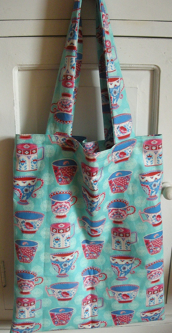 Blue Tea Bag by AudreyAccessories on Etsy, €25.00
